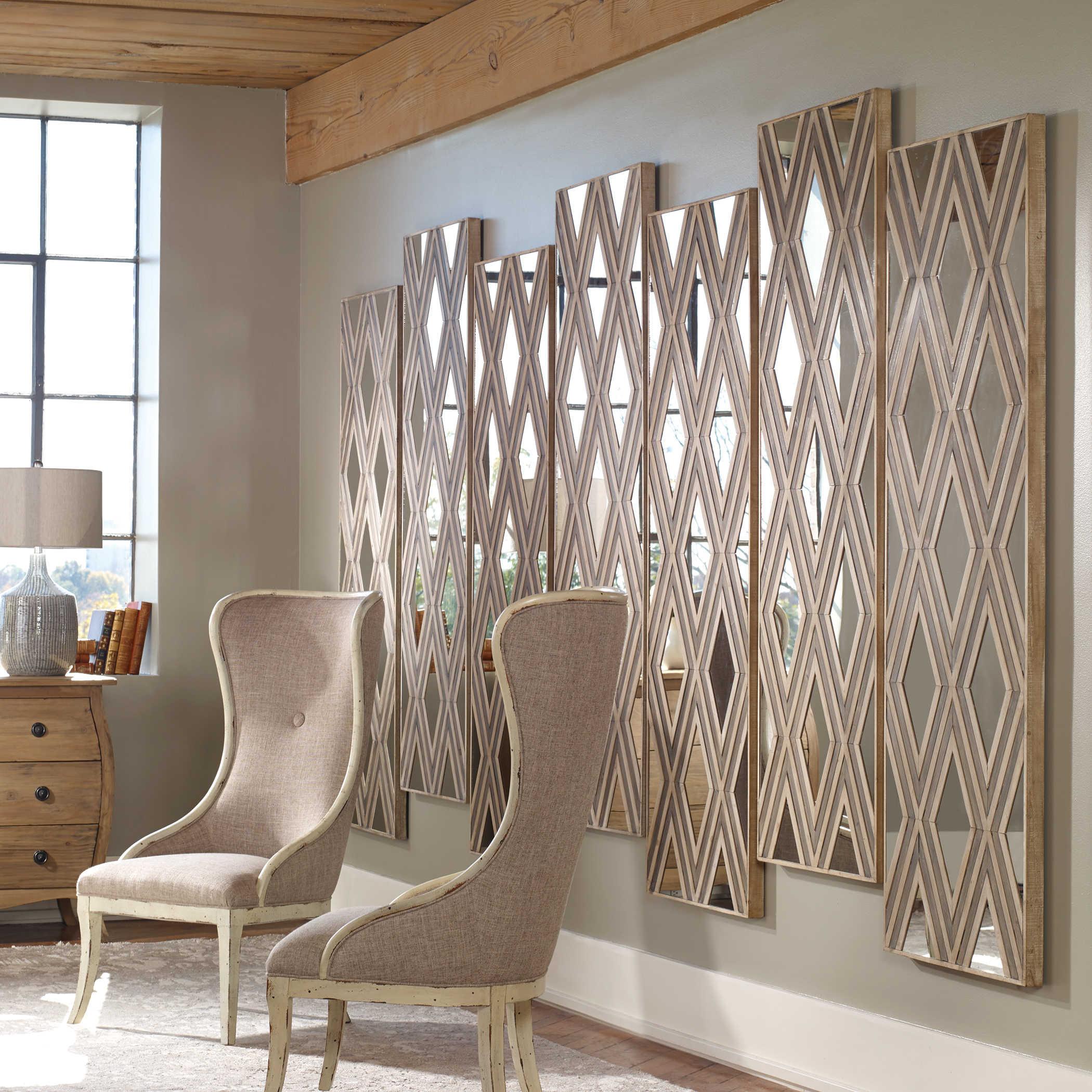 Uttermost Tahira Geometric Argyle Pattern Wall Mirror